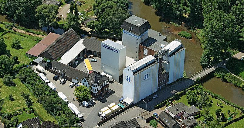 Luftaufnahme der Mühle Kottmann in Wevelinghoven